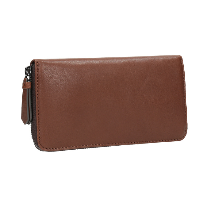Hnědá kožená peněženka bata, hnědá, 944-3165 - 13
