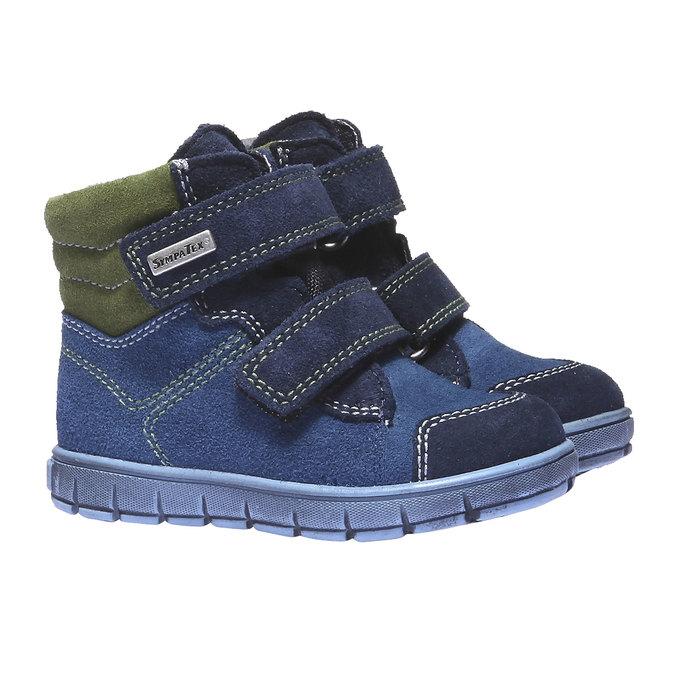 Dětská kožená obuv richter, modrá, 193-9004 - 26