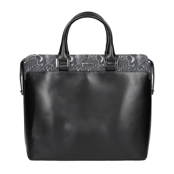 Kožená kabelka s detailem hadího vzoru gino-rossi, černá, 964-6024 - 26