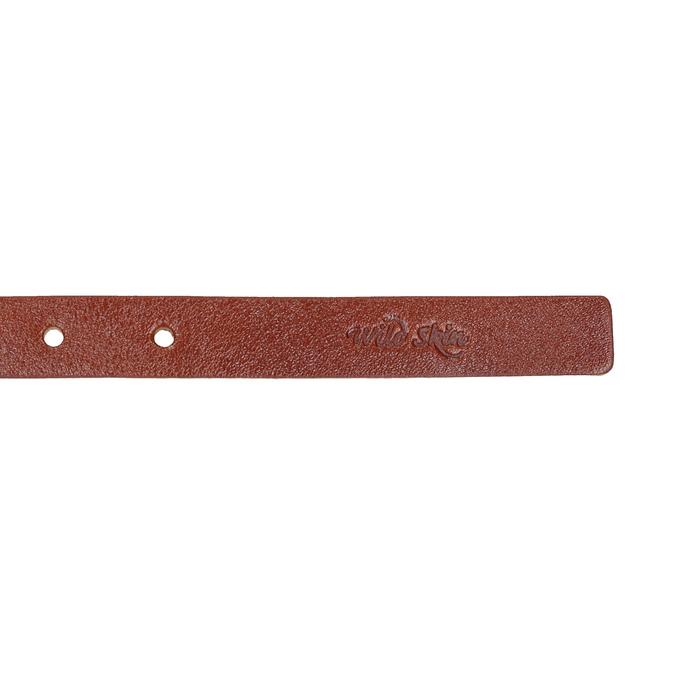 Hnědý kožený opasek s menší sponou wildskin, hnědá, 954-3013 - 16