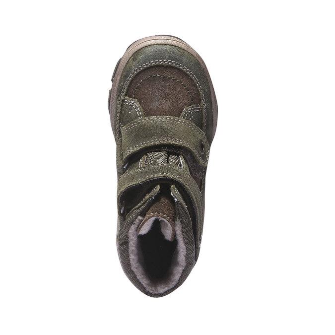Dětská kožená obuv richter, zelená, 396-7001 - 19