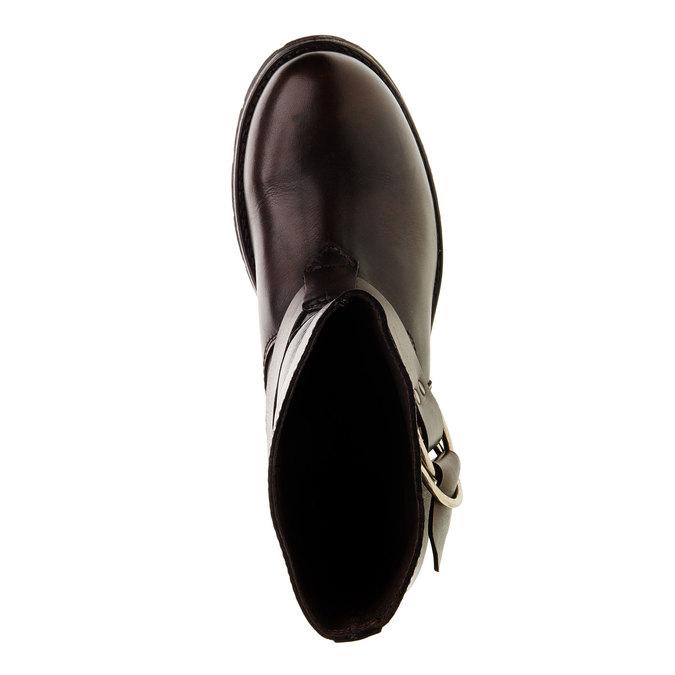 Kožená kotníčková obuv diesel, hnědá, 596-4108 - 19