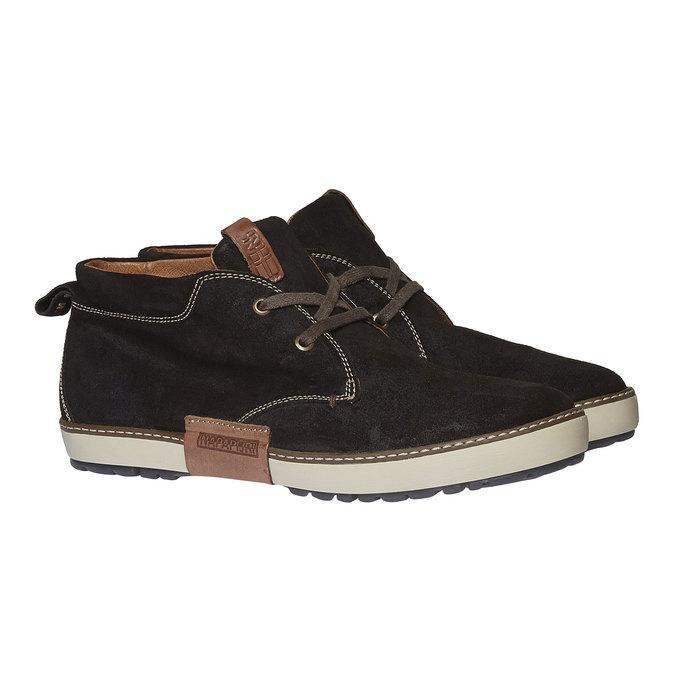 Leather Sneakers napapijri, hnědá, 893-4008 - 26