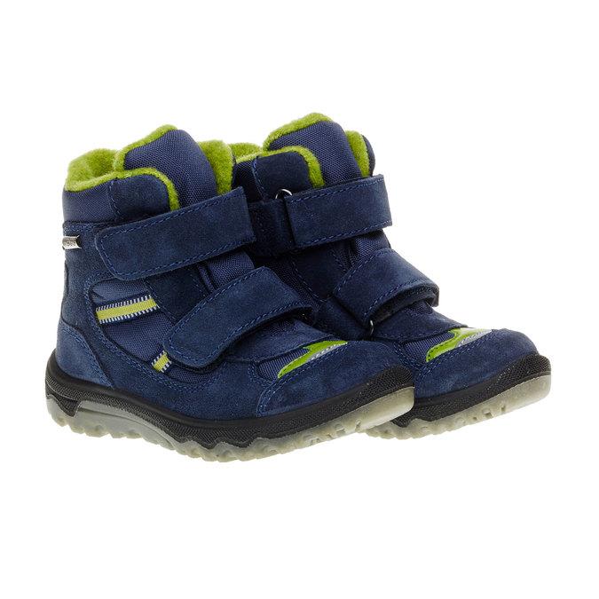 Kožené dětské boty mini-b, modrá, 293-9150 - 26