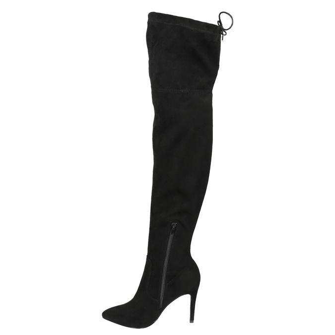 Dámské kozačky nad kolena bata, černá, 799-6600 - 17