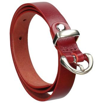 Kožený opasek s menší sponou wildskin, červená, 954-5013 - 13