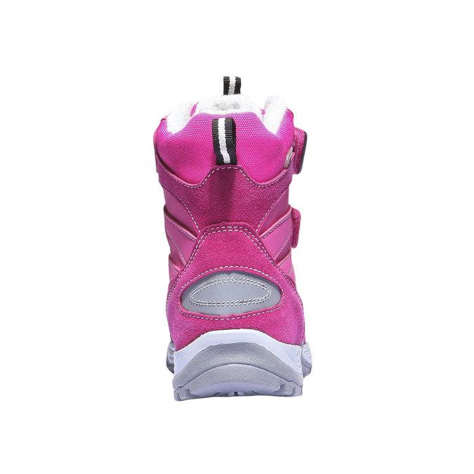 Kotníčková obuv s masivní podešví mini-b, růžová, 391-5100 - 17