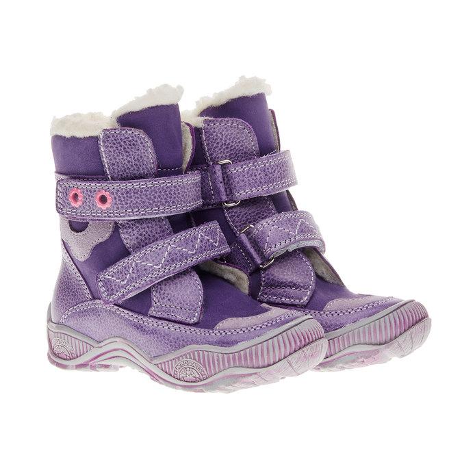 dětské zimní boty mini-b, fialová, 194-9100 - 26