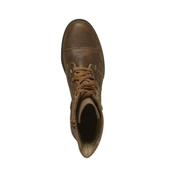 Kožená kotníčková obuv sorel, hnědá, 594-4039 - 19