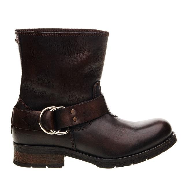 Kožená kotníčková obuv diesel, hnědá, 596-4108 - 13
