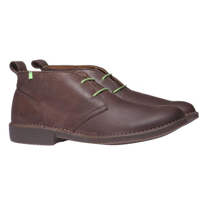Leather Chukka Boots el-naturalista, hnědá, 826-4013 - 26