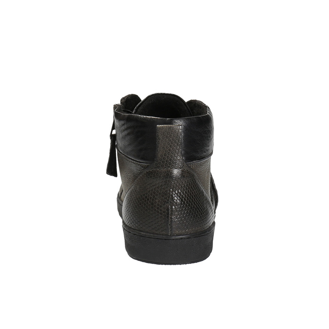 Pánská kotníčková obuv kožená bata, šedá, 846-2602 - 17