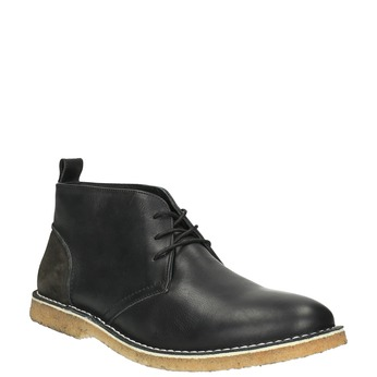 Kožené Chukka Boots bata, černá, 824-6665 - 13