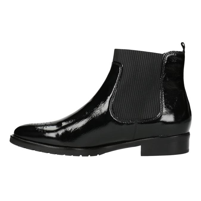Chelsea boots z lakované kůže gabor, černá, 618-6006 - 26