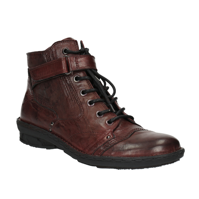 Dámská kožená obuv bata, červená, 526-5602 - 13