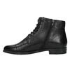 Kožená kotníčková obuv šněrovací vagabond, černá, 524-6006 - 26