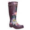 Dámské květované holínky joules, fialová, 502-5005 - 13