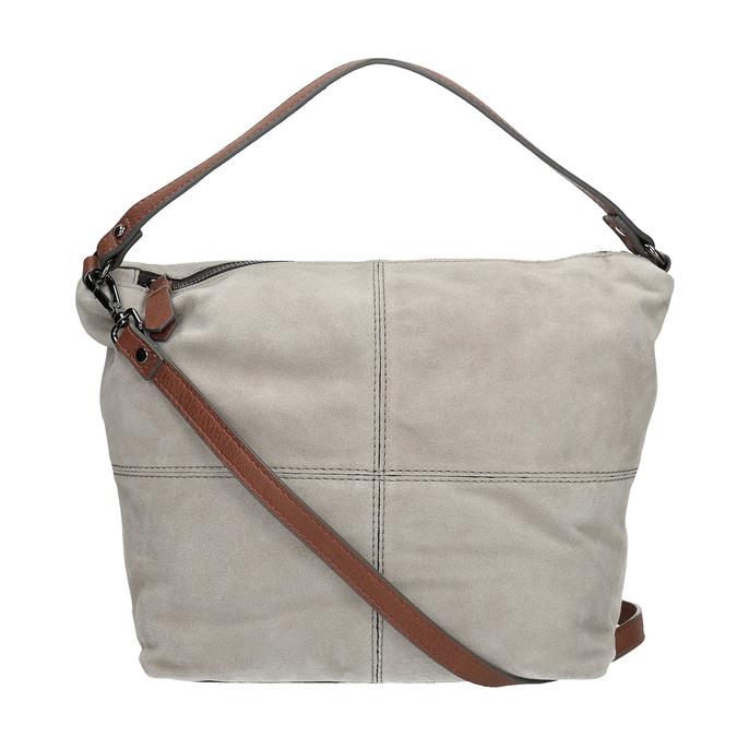 Kožená kabelka v Hobo stylu bata, šedá, 963-2130 - 19