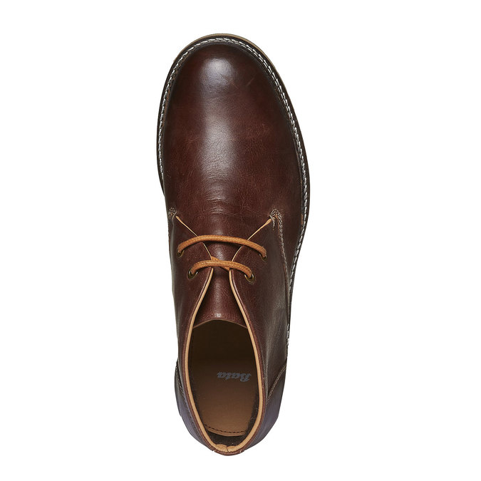 Kožené kotníkové Desert Boots bata, hnědá, 894-3114 - 19