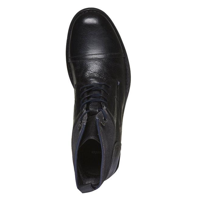 KOŽENÁ KOTNÍČKOVÁ OBUV bata, černá, 894-6112 - 19