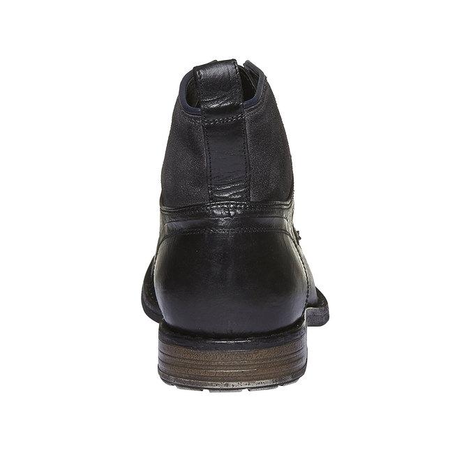 KOŽENÁ KOTNÍČKOVÁ OBUV bata, černá, 894-6112 - 17
