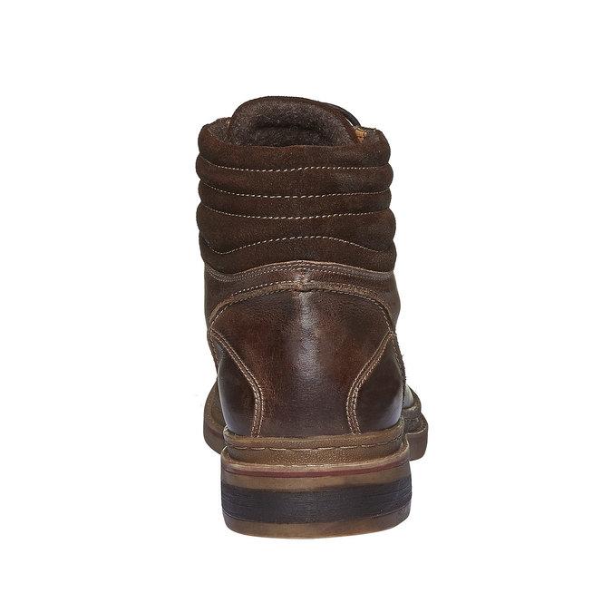 Kotníkové zimní boty šněrovací bata, hnědá, 894-4109 - 17