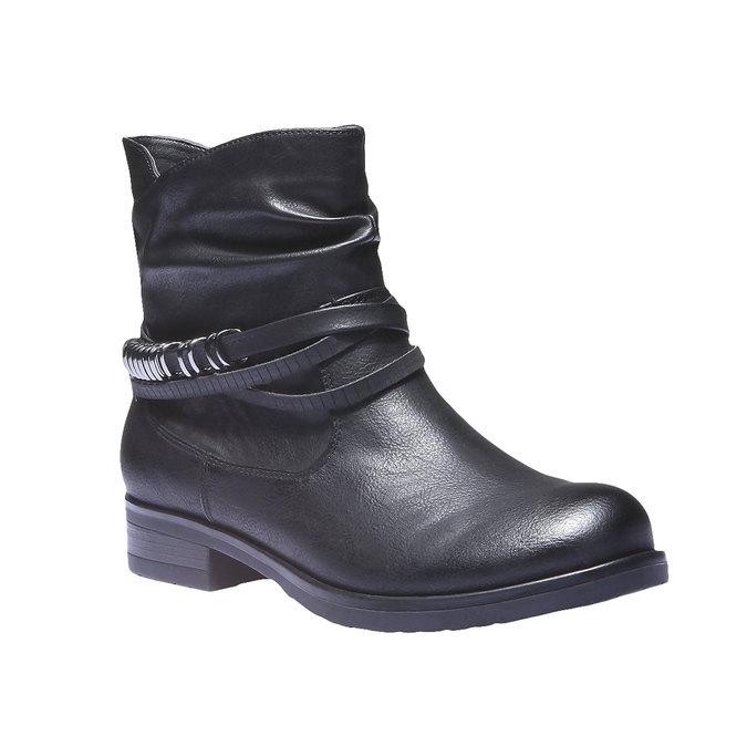 Kotníkové kozačky bata, černá, 591-6648 - 13