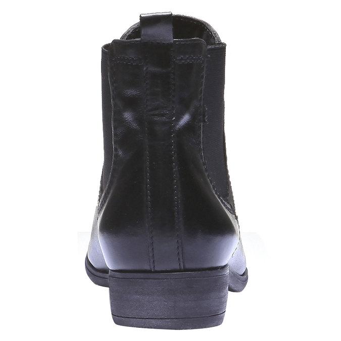 Kožené dámské Chelsea bata, černá, 594-6110 - 17