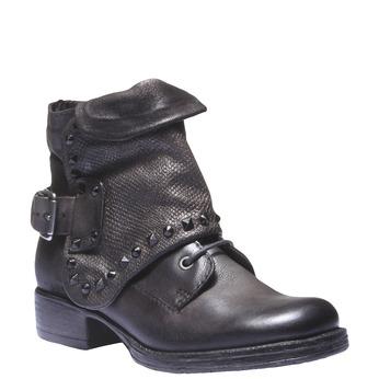 Kožená kotníčková obuv bata, šedá, 596-2104 - 13