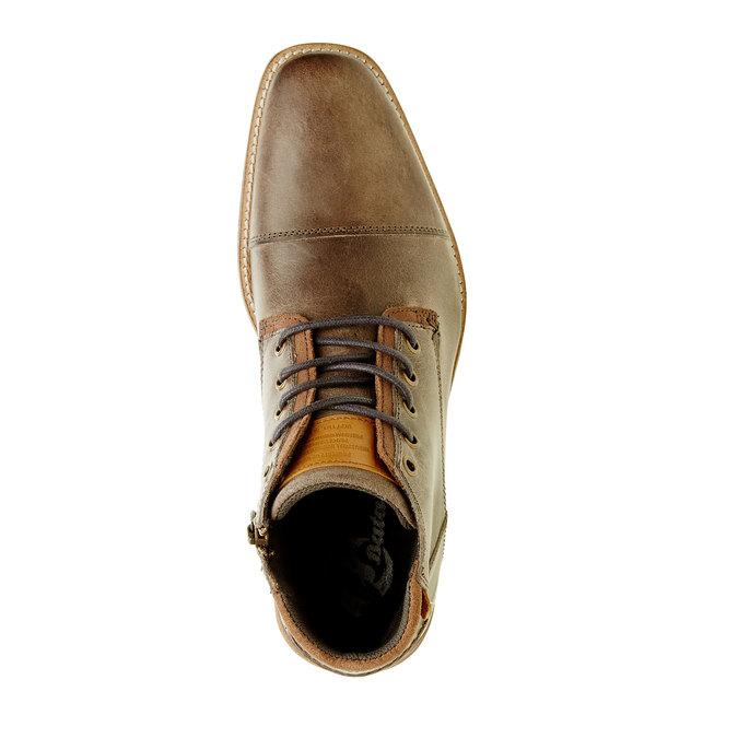 Kožená kotníčková obuv pánská bata, šedá, 894-2620 - 19