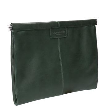 Zelené kožené psaníčko vagabond, zelená, 964-7001 - 13