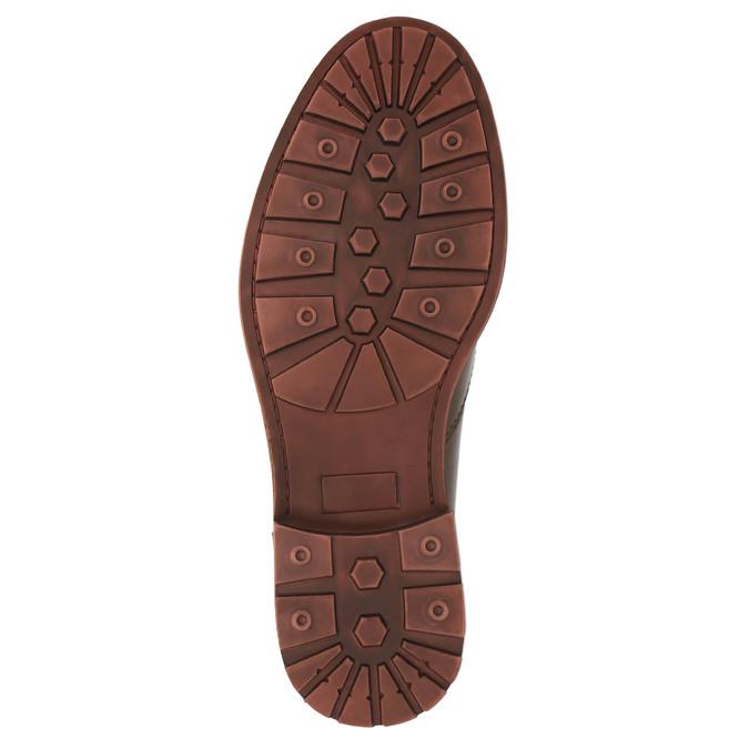 Kožené kotníčkové polobotky bata, hnědá, 894-4646 - 26