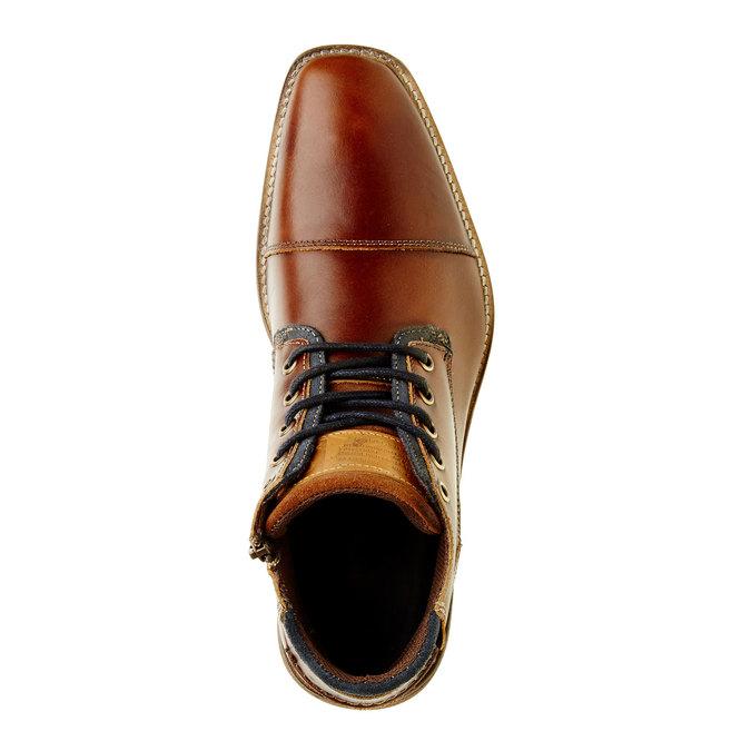 Kožená kotníčková obuv pánská bata, hnědá, 894-4620 - 19