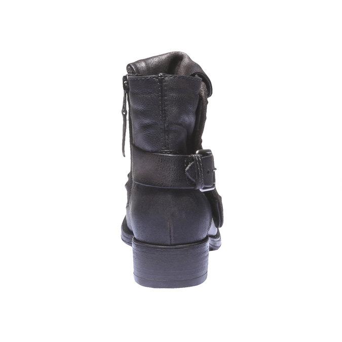Kožená kotníčková obuv bata, šedá, 596-2104 - 17