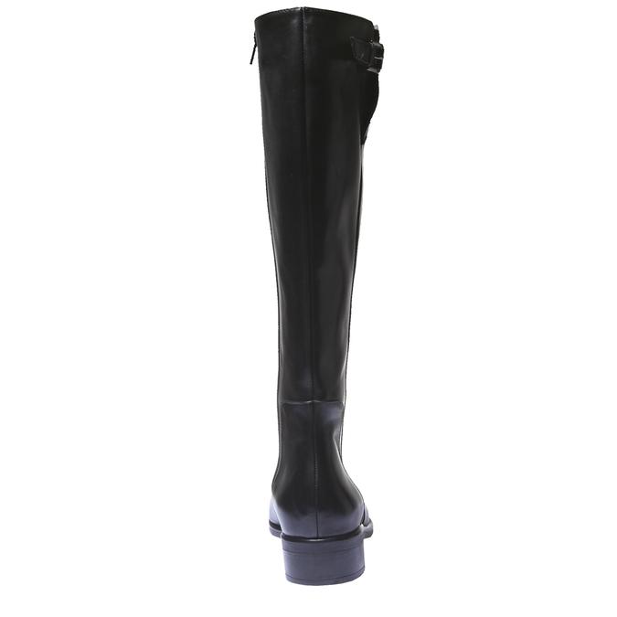Kozačky na nízkém podpatku bata, černá, 594-6109 - 17