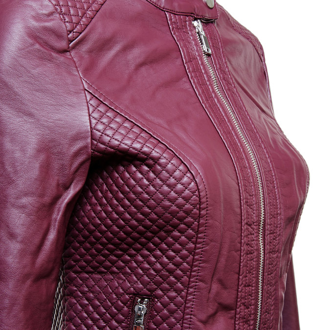 Dámská bunda s prošíváním bata, červená, 971-5183 - 16