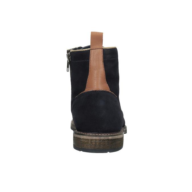 Kotníčková kožená obuv bata, modrá, 893-9651 - 17