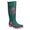 Dámské květované holínky joules, zelená, 502-7007 - 13