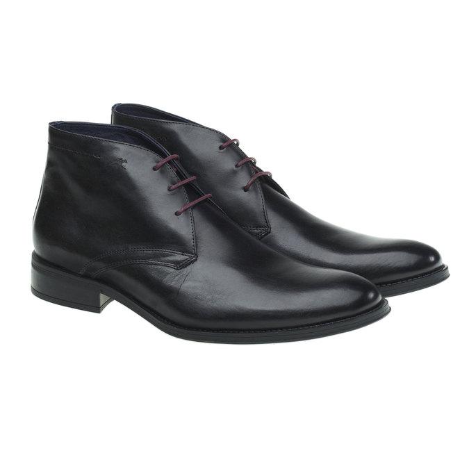 Kožená kotníčková obuv fluchos, černá, 894-6122 - 26