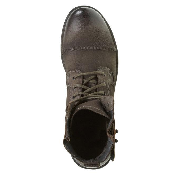 Kožené kotníkové boty bata, šedá, 894-2165 - 19