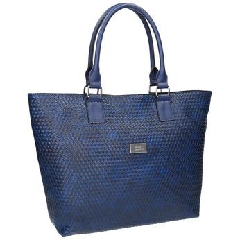 Modrá dámská kabelka bata, modrá, 961-9651 - 13