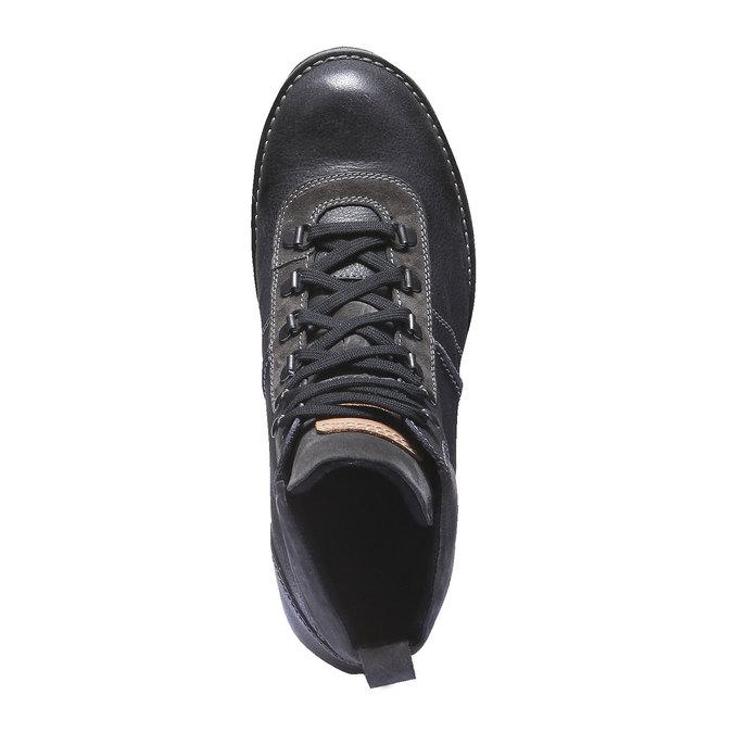 Kožená kotníčková obuv bata, černá, 894-6343 - 19