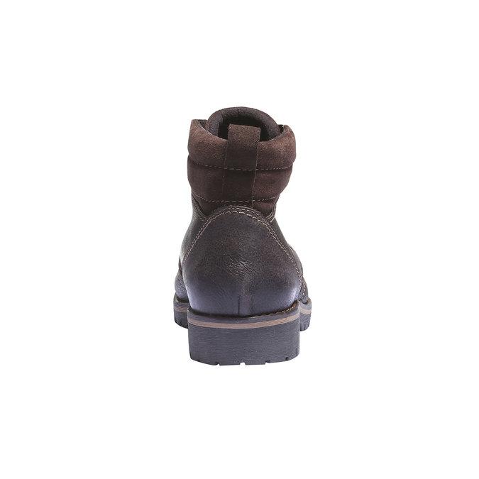 Kožená kotníčková obuv bata, hnědá, 894-4343 - 17