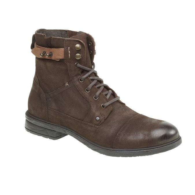 Kožené kotníkové boty bata, hnědá, 894-4165 - 13