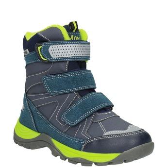 Dětská zimní obuv na suché zipy mini-b, modrá, 391-9100 - 13