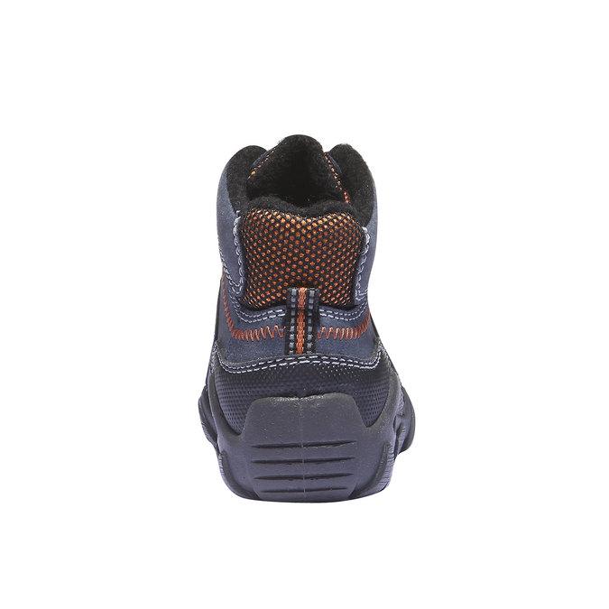 Dětské vysoké kožené boty mini-b, modrá, 416-9100 - 17