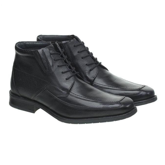 Kožené polobotky bata, černá, 894-6429 - 26
