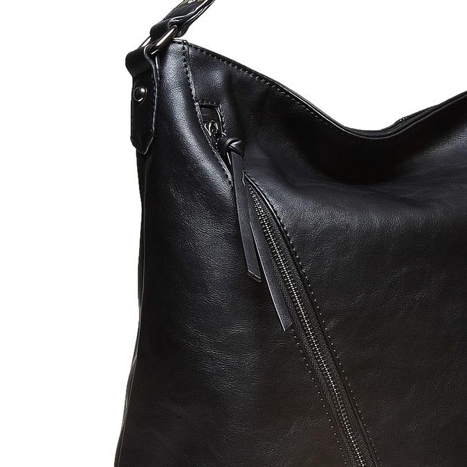 Dámská kabelka se zipy bata, černá, 961-6127 - 17