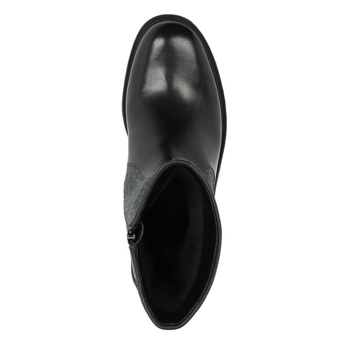 Kožená kotníčková obuv bata, černá, 594-6632 - 19