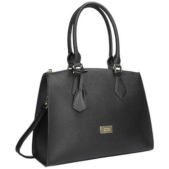 Černá dámská kabelka s pevnými uchy bata, černá, 961-6646 - 13